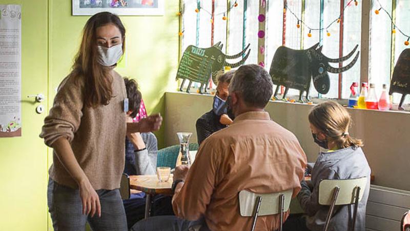 les précautions sanitaires au Café des enfants de Grenoble
